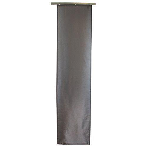 g zze panneau japonais dakar rideau coulissant 245x60 cm voile opaque effet soie uni. Black Bedroom Furniture Sets. Home Design Ideas