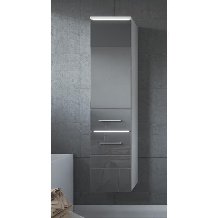 Armoire de rangement de toledo hauteur 133 cm gris for Armoire de rangement de salle de bain
