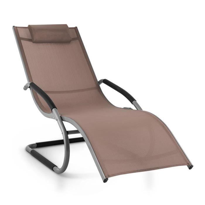 Blumfeldt sunwave chaise longue de jardin avec for Le jardin qui bascule 1975