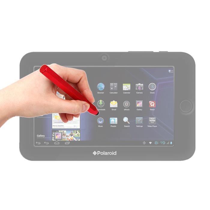 stylet tactile forme crayon rouge pour crans de tablettes. Black Bedroom Furniture Sets. Home Design Ideas