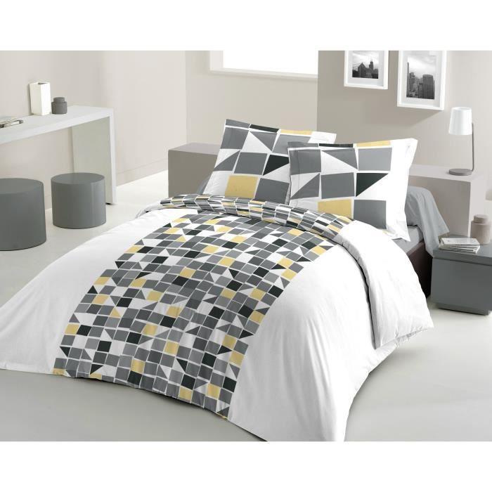 lovely home parure de couette mosa 100 coton 1 housse. Black Bedroom Furniture Sets. Home Design Ideas