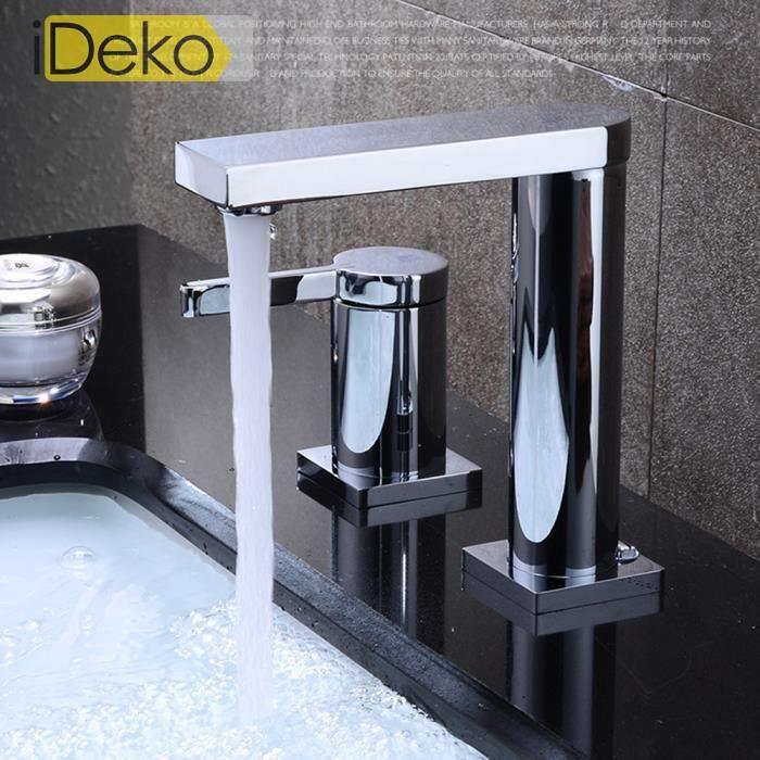 Ideko robinet mitigeur de lavabo salle de bains lavabo for Robinetterie haut de gamme pour salle de bain