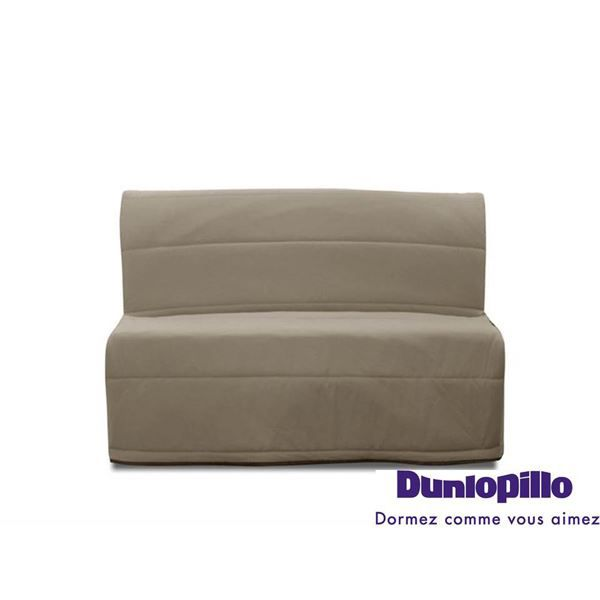 canap bz phoenix gris taupe avec matelas dunlo achat vente bz cdiscount. Black Bedroom Furniture Sets. Home Design Ideas