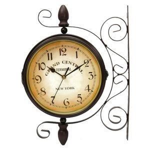 Horloge double face achat vente horloge double face pas cher cdiscount - Horloge double cadran ...