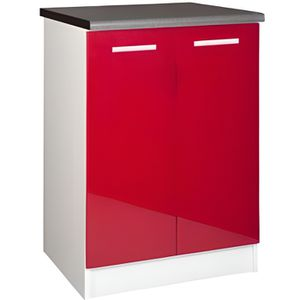 ELEMENTS BAS Meuble cuisine bas 60 cm 2 portes TARA rouge