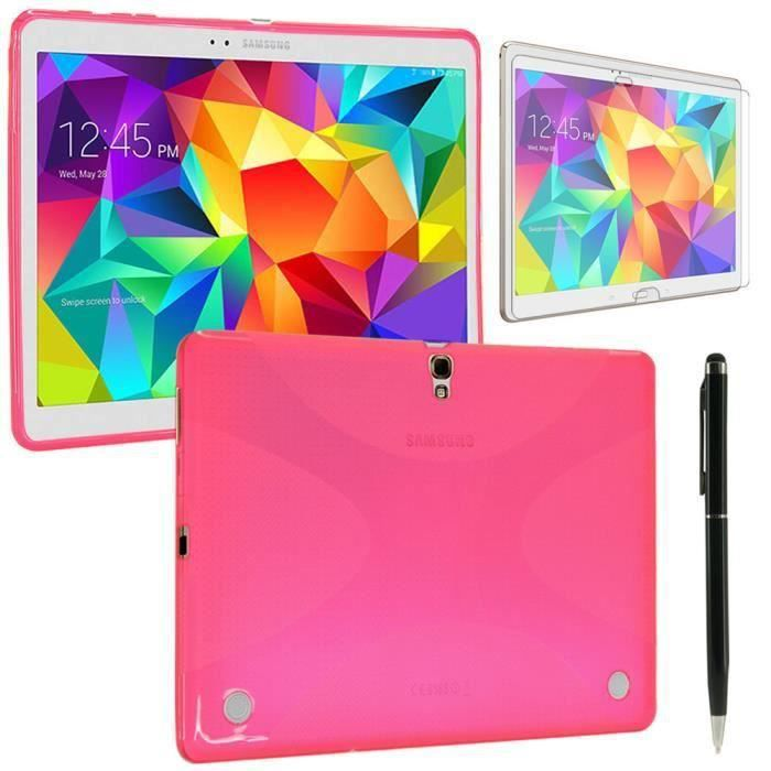 Housse silicone samsung rose galaxy tab s 10 5 prix pas for Housse galaxy tab s
