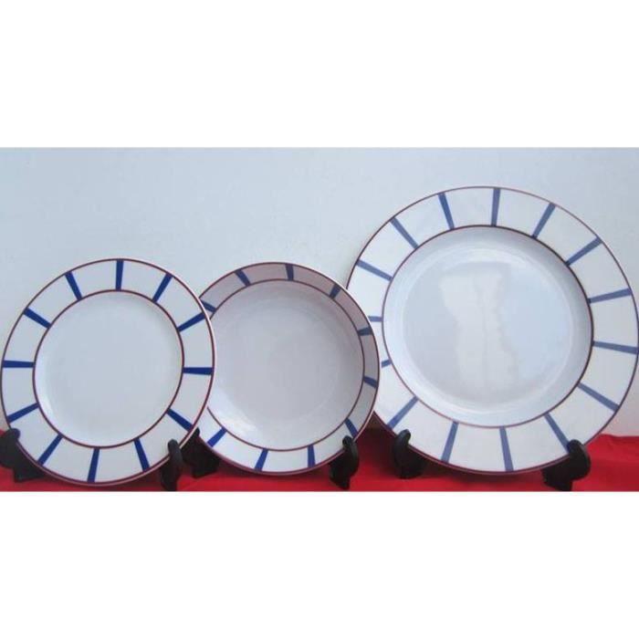 Service de vaisselle basque achat vente assiette for Art de la table vaisselle