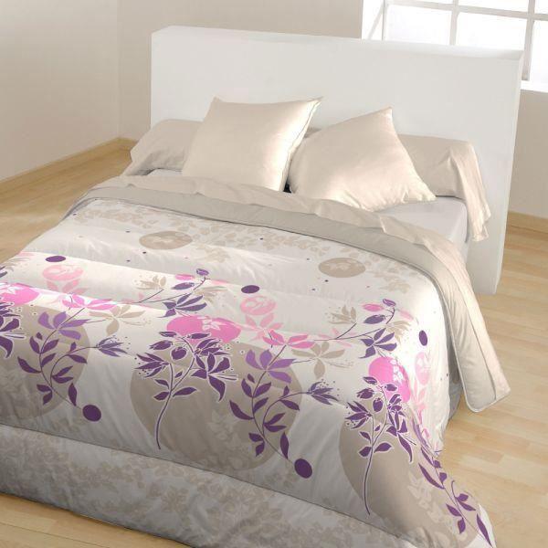 couette 140x200 cm double face 400g m2 beige rose doria achat vente couette cdiscount. Black Bedroom Furniture Sets. Home Design Ideas