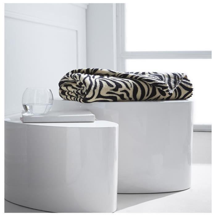 Plaid polaire safari tigre 125x150 moelleux achat - Tigre polaire ...