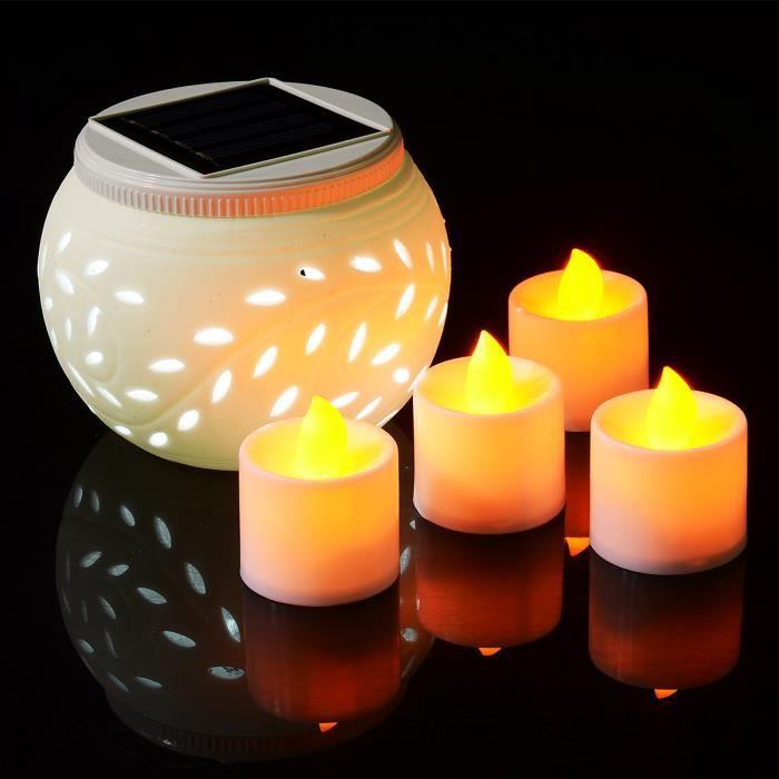 Xcellent Global Lampe Solaire C Ramique Form Lanterne