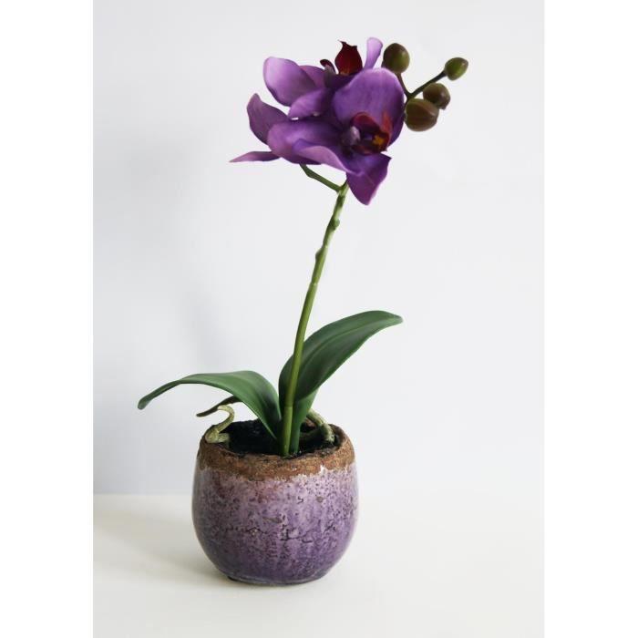 orchid e artificielle en pot achat vente. Black Bedroom Furniture Sets. Home Design Ideas