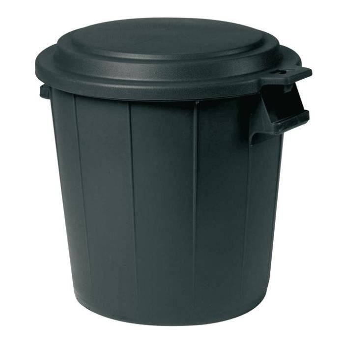 poubelle d 39 ext rieur avec couvercle 50 l noir achat