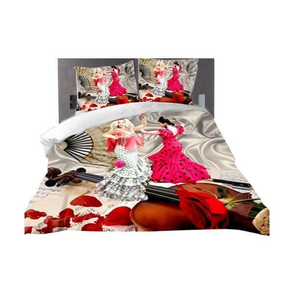 set 1 housse de couette 3d 1 drap 2 taies d oreiller 220cm x 240cm boutique destockpromo