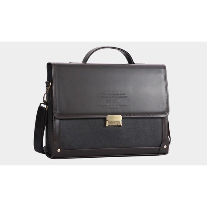 Sac cuir sacoche homme de marque luxe serviette attach case homme porte bandouli re document - Porte ordinateur portable ...