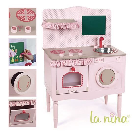 Cuisine en bois rose pour poupu00e9e : Grand modu00e8le - Achat / Vente ...