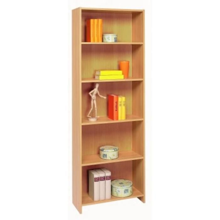 Biblioth que 5 rayons en bois hetre essentiel l60 7 x h171 x p24 4 cm acha - Bibliotheque achat en ligne ...