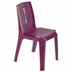 Lot de 8 chaises jardin salsa prune achat vente for Lot chaise de jardin