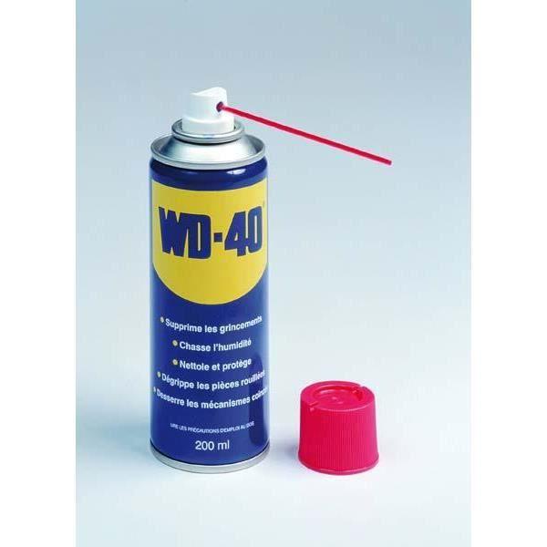 spray huile multi usage wd 40 200 ml achat vente additif spray huile multi usage wd. Black Bedroom Furniture Sets. Home Design Ideas