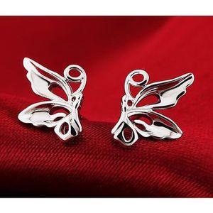 Boucle d'oreille Boucles d'oreilles en argent 925 papillon pour fem