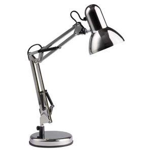 LAMPE A POSER HENRY Lampe de bureau orientable E27 40 W Gris