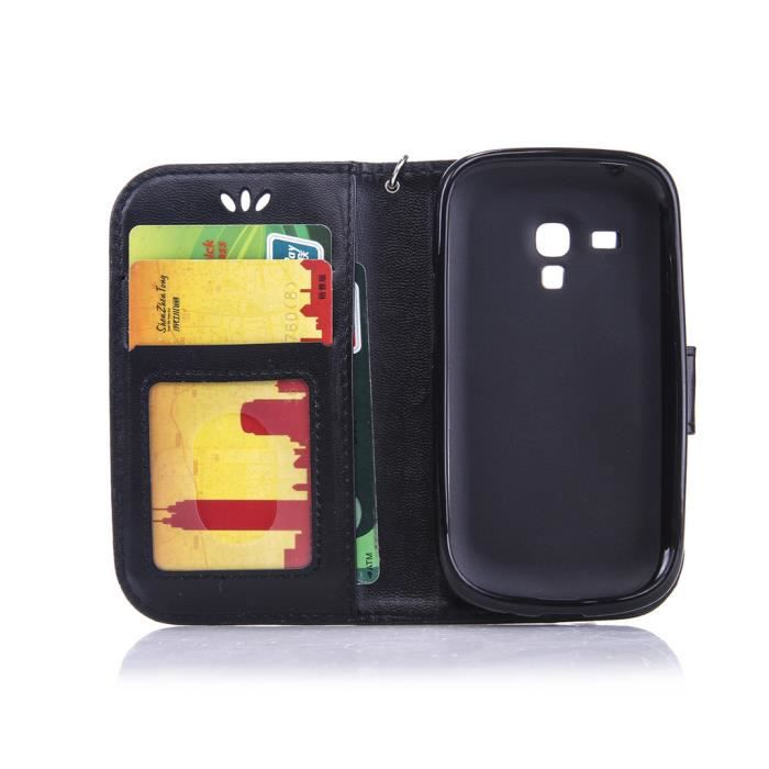Housse samsung galaxy s3 3 mini i8190 4 0 portefeuille pu for Housse samsung galaxy s3