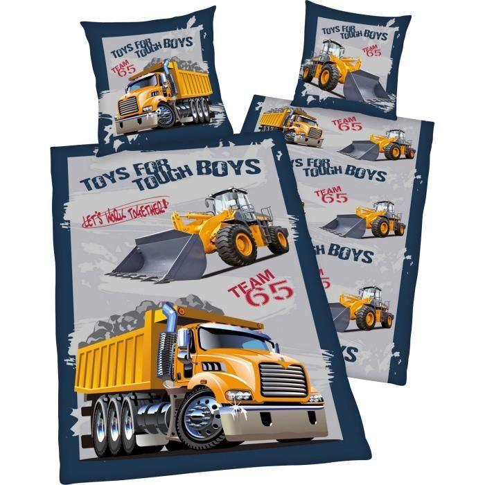 Parure de lit camion tracteur achat vente parure de for Lit tracteur