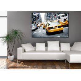 Deco soon tableau taxi new york 3 100 x 150 cm achat for Deco taxi new york