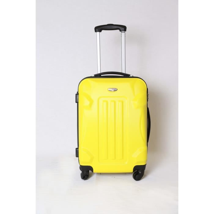valise trolley taille cabine 4 roues 50cm jaune jaune achat vente valise bagage. Black Bedroom Furniture Sets. Home Design Ideas