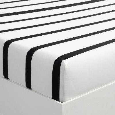 drap housse 2 personnes ray en pur coton marin achat vente drap housse cdiscount. Black Bedroom Furniture Sets. Home Design Ideas