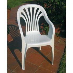 fauteuil monobloc club blanc joluce sotrapa achat vente chaise fauteuil jardin fauteuil. Black Bedroom Furniture Sets. Home Design Ideas