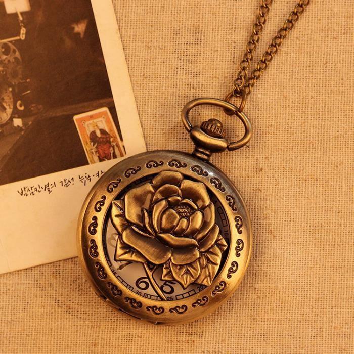 D coration fleur montre de poche montre la pendaison achat vente montre d coration fleur for Montre decoration