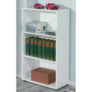 bibliotheque largeur 60 cm achat vente bibliotheque largeur 60 cm pas cher cdiscount. Black Bedroom Furniture Sets. Home Design Ideas