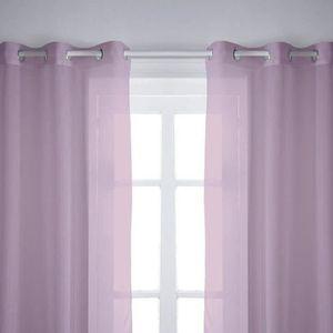 Voilage violet achat vente voilage violet pas cher - Paire de voilage ...
