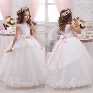 Robes de fille de fleur blanche