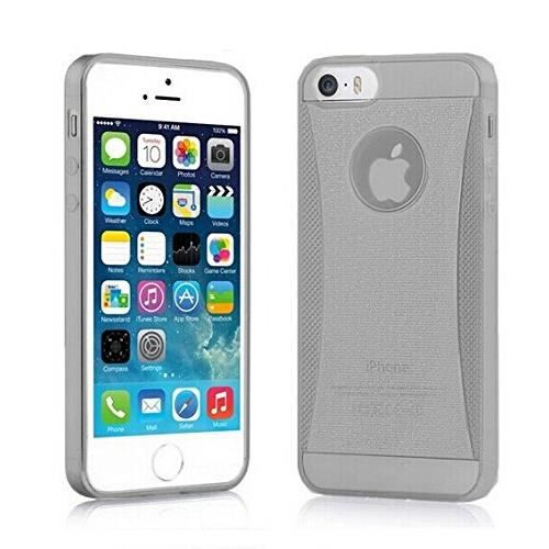 Coque housse silicone luxe iphone 6 plus gris for Housse iphone 6 luxe