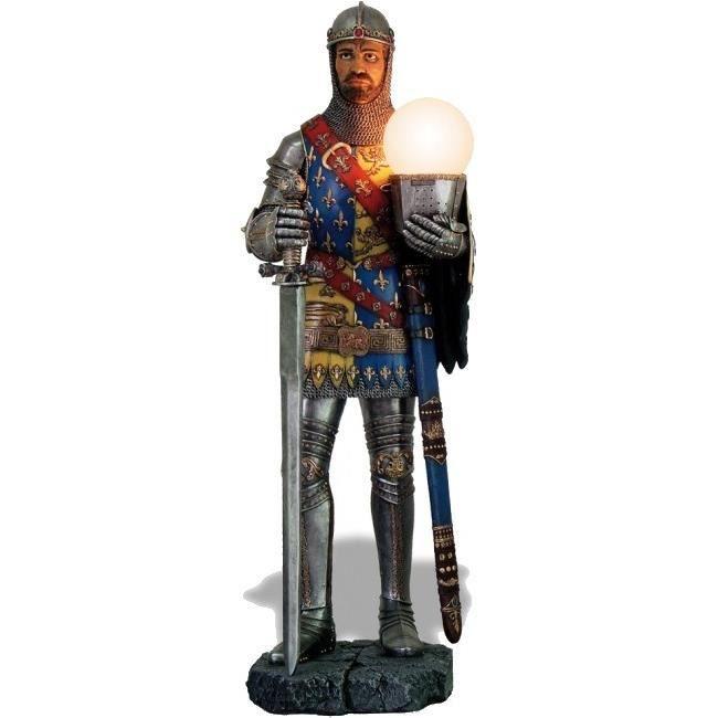Grande lampe statuette figurine chevalier 82 cm achat for Lampe de chevet chevalier