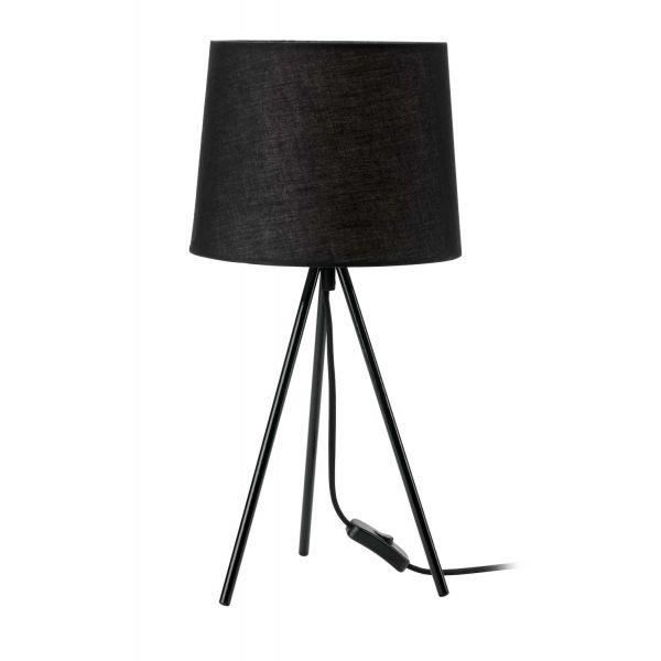 Lampe poser tr pied miya noir achat vente lampe for Lampe a poser noire