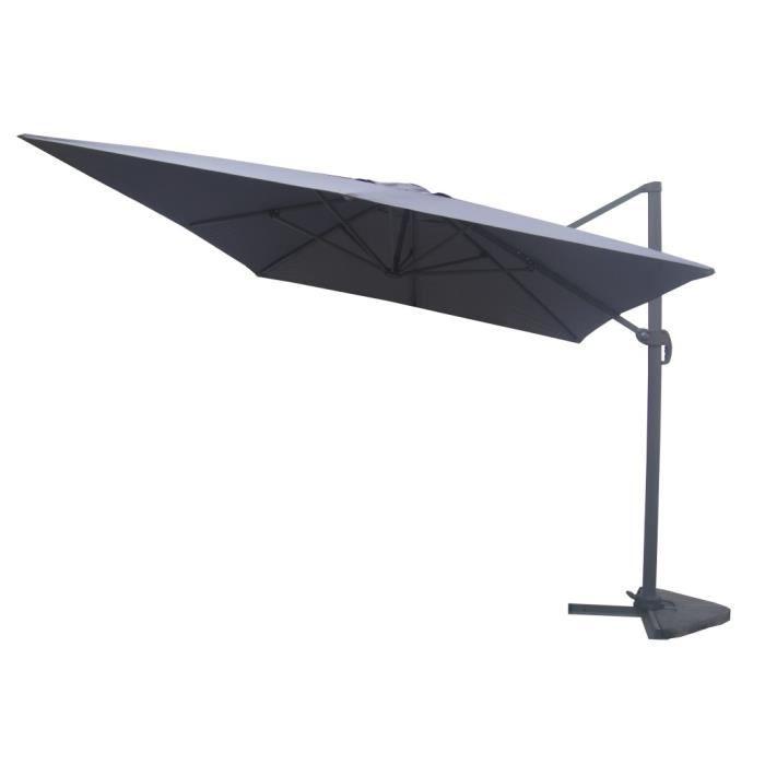 parasol d 233 port 233 3x4 gris achat vente parasol ombrage parasol d 233 port 233 3x4