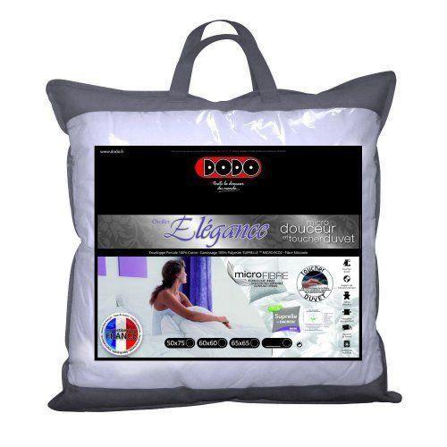 dodo suprelle oreiller uni classique blanc 45 x 70 cm synth tique ferme achat vente oreiller. Black Bedroom Furniture Sets. Home Design Ideas