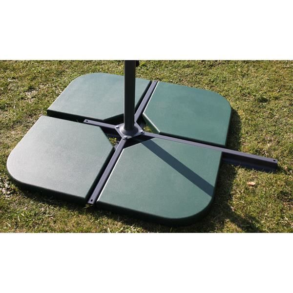 Dalle ciment verte pour parasols d port s 48x48 achat vente parasol om - Pied de parasol deporte ...
