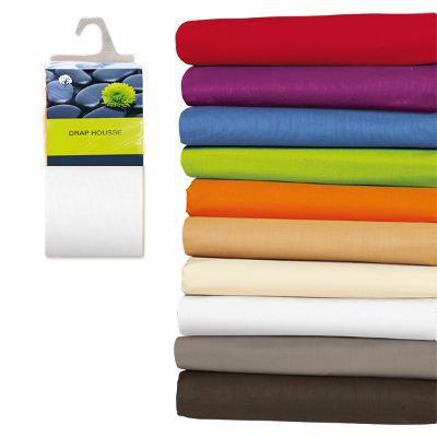 drap housse 180x200 100 coton blanc achat vente drap housse 180x200 100. Black Bedroom Furniture Sets. Home Design Ideas