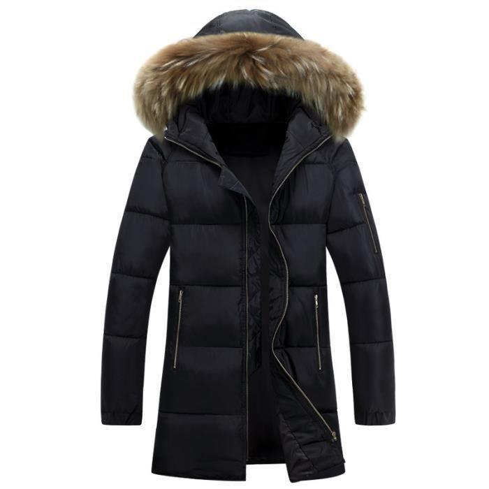 parka homme capuchon noir hiver marque luxe c noir achat vente parka cdiscount. Black Bedroom Furniture Sets. Home Design Ideas