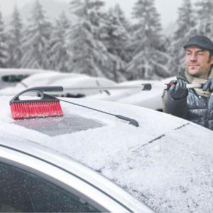 balai à neige télescopique+gratte-givre