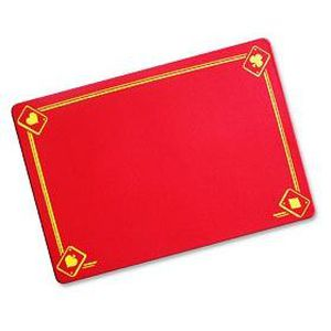 Tapis Classique Imprim Rouge 40 X 27 5 Cm Achat Vente Tapis De Jeu De Carte Cdiscount