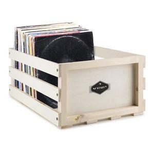 rangement disques vinyle achat vente rangement disques vinyle pas cher cdiscount. Black Bedroom Furniture Sets. Home Design Ideas