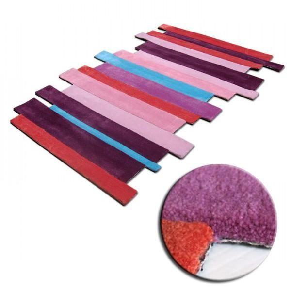 tapis design lamelle multicolore pour la collec achat vente tapis cdiscount. Black Bedroom Furniture Sets. Home Design Ideas