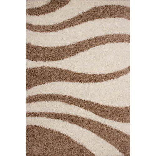 lalee 347186617 tapis pais boucl motif vague beige cru argent 80 x 150 cm achat vente. Black Bedroom Furniture Sets. Home Design Ideas