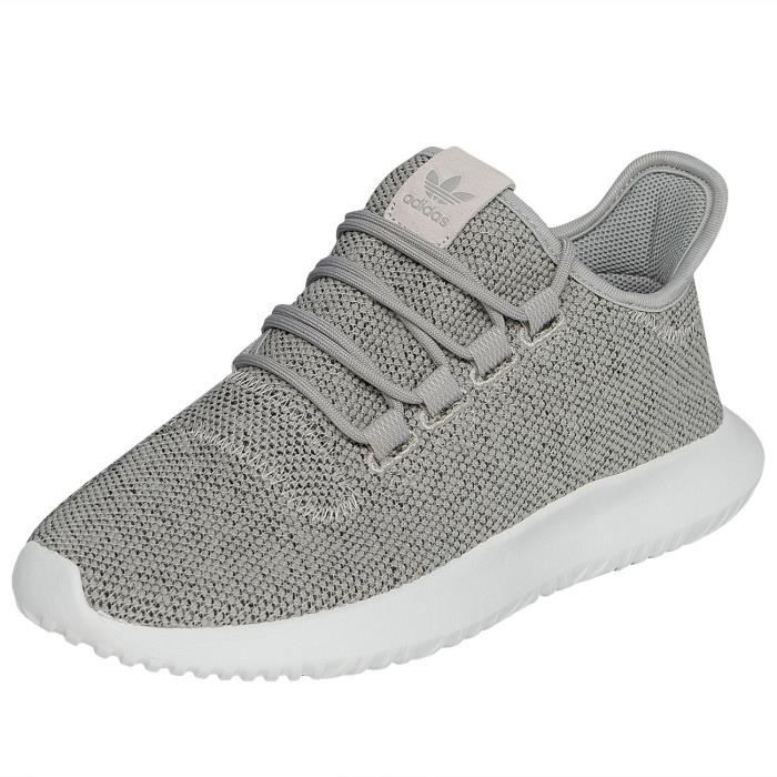 adidas femme chaussures baskets tubular shadow w gris gris achat vente basket cdiscount. Black Bedroom Furniture Sets. Home Design Ideas