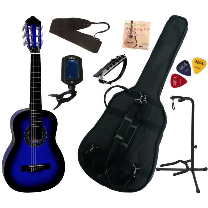 guitare enfant bleu pas cher achat vente les soldes. Black Bedroom Furniture Sets. Home Design Ideas