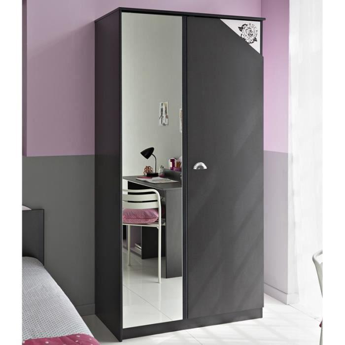 Paris prix armoire 2 portes flora gris achat vente - Comparateur de prix congelateur armoire ...